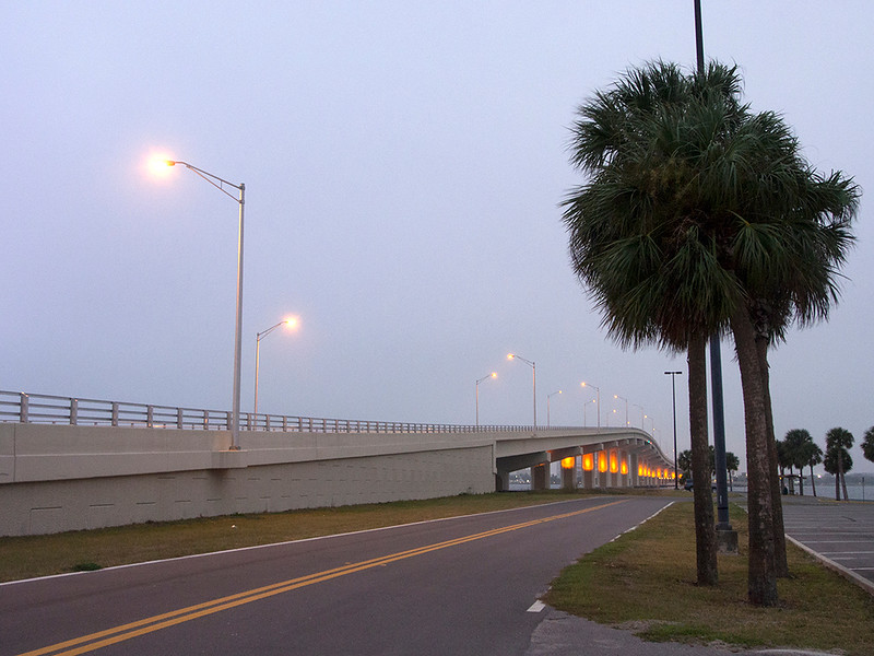 The Titusville-Merritt Island bridge<br /> Florida<br /> December 2012