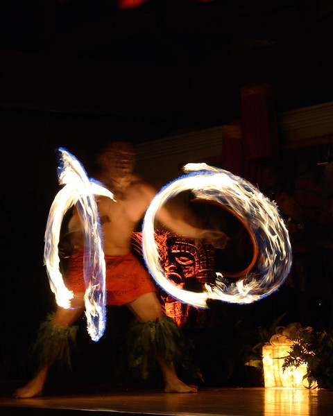 Fire dancer<br /> Loews' Royal Pacific Resort<br /> Orlando, Florida<br /> December 2012