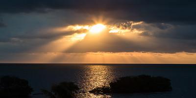 God's Rays over Key Largo