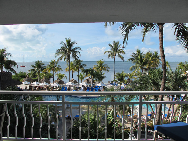 After spending 109 nights last year in Marriott chain hotels, it's nice to use the points to stay in a place like this.  Especially in January.  Key Largo Bay Marriott Resort.