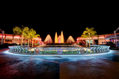 Fountain of Nations at night