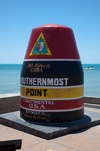 The tourist spot for the southernmost point in the continental US.