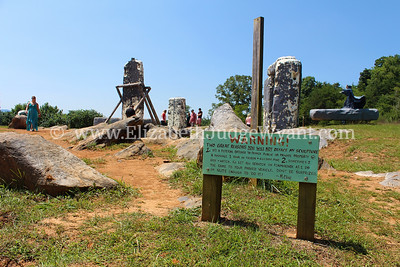Foamhenge is a full-size replica of Stonehenge made entirely out of styrofoam in Natural Bridge, Virginia. The structure was created by Mark Cline of Enchanted Castle Studio.  http://www.thefoamhenge.com/index.php