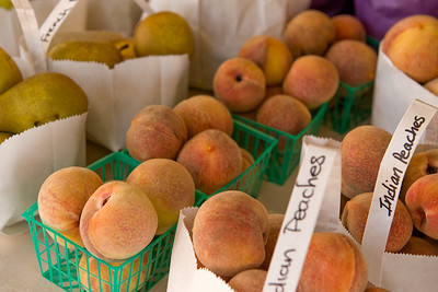 Gowen's Oak Tree Fruit Stand Indian Peaches Boonville, Anderson Valley, CA