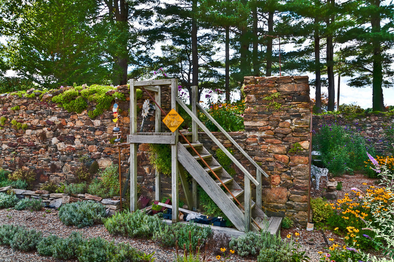 Entrance to Old Barn cellar hole garden!