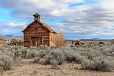 Fort Rock Church, Fort Rock Homestead Village, Oregon