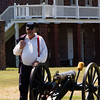 man manning the cannon
