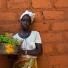 Mulher a mostrar um viveiro, em Caur de Cima - tabanca  do sector de Empada, região de Quinara.