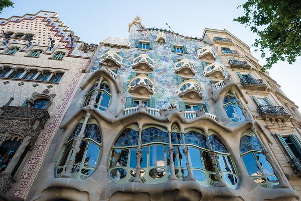 Architecture designed by Antoni Gaudi, Barcelona