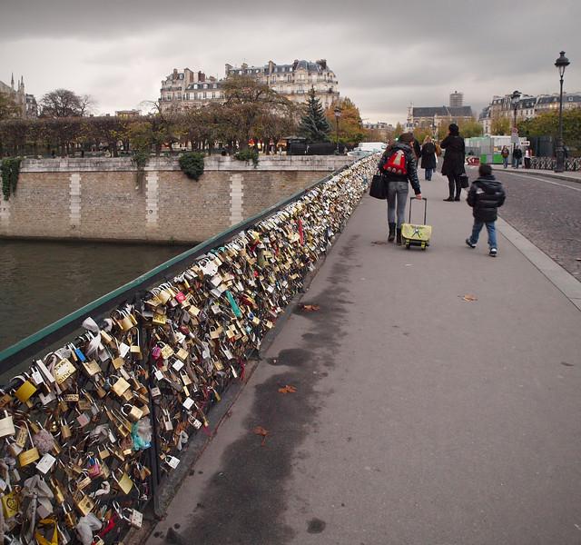 Bridge of Locks across the Seine in Paris - 17 Nov 2011