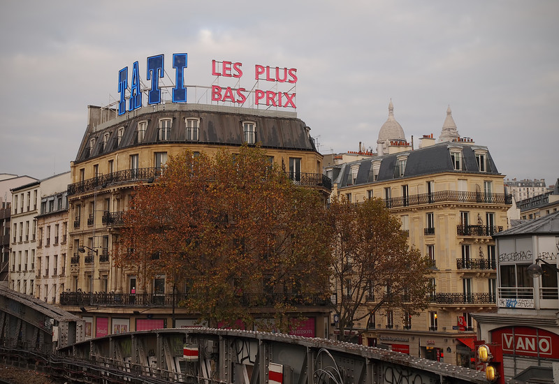 View from the Barbes-Rochenchouart Metro Station in Paris - 18 Nov 2011