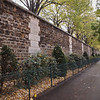 Outer Wall of Pere Lachaise Cemetery in Paris - 18 Nov 2011