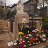 Frederic Chopin's Grave at Pere Lachaise Cemetery in Paris - 18 Nov 2011