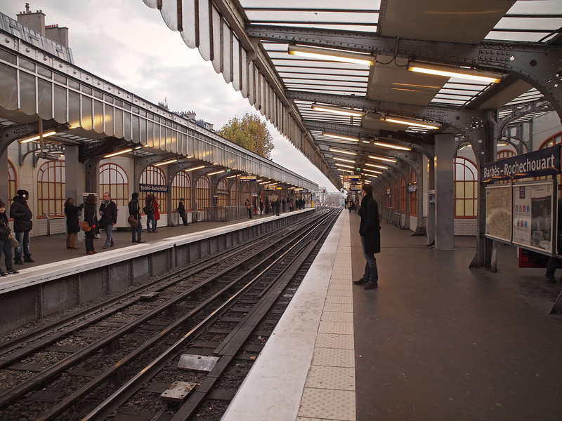 Barbes-Rochechouart Metro Station in Paris - 18 Nov 2011