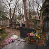 Pere Lachaise Cemetery in Paris - 18 Nov 2011