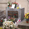 Jim Morrison's Grave at Pere Lachaise Cemetery in Paris - 18 Nov 2011