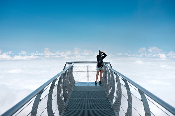 Observation deck of the Pic du Midi de Bigorre.