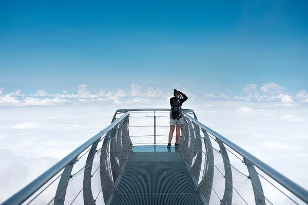 Observation deck of the Pic du Midi de Bigorre.