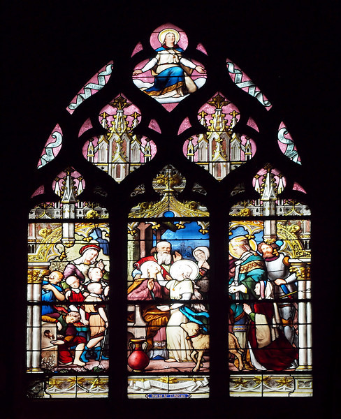 Stained Glass in the Church of Saint Séverin in Paris - 15 Nov 2011
