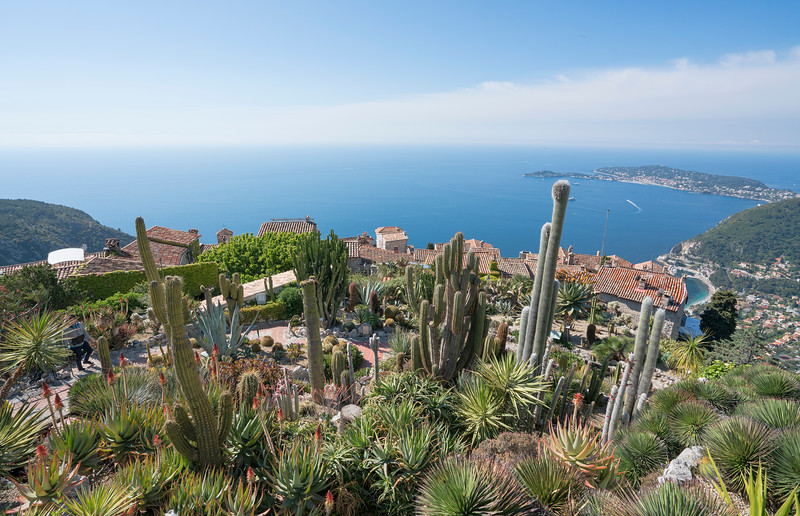 Botanical Garden Vista from Eze, France
