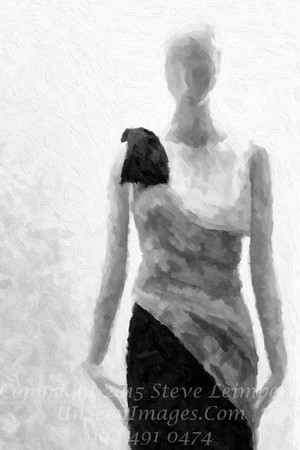 Model Parisian Woman - B&W Copyright 2016 Steve Leimberg - UnSeenImages Com File0012