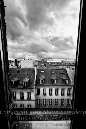 Looking Down at Paris - B&W  Copyright 2016 Steve Leimberg - UnSeenImages Com _H1R8360