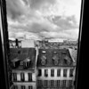 Looking Down at Paris - B&W  Copyright 2016 Steve Leimberg - UnSeenImages Com _H1R8360