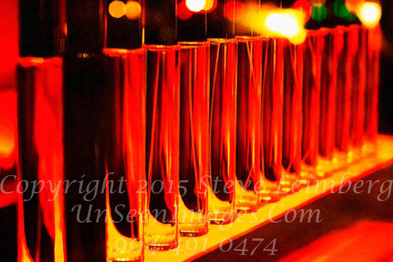 Glasses in Paris Bar - PAINTING - Copyright 2016 Steve Leimberg - UnSeenImages Com File0123