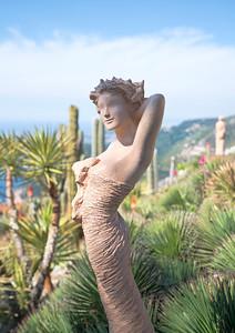 Sculpture by Jean-Philippe Richard, Eze Botanical Gardens