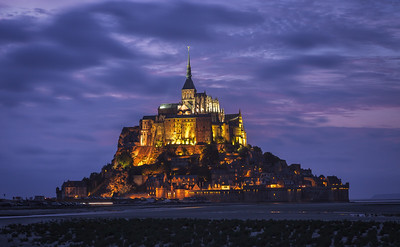 Mont Saint Michel, Normandy, France.