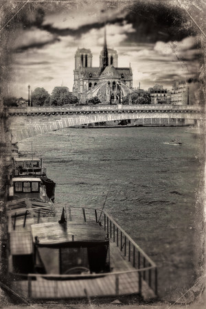"""Aged"" Look at Paris from the Seine - Copyright 2020 Steve Leimberg - UnSeenImages Com _DSC4850"