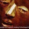 Ebony Man B&W PAINTING - Copyright 2014 Steve Leimberg - UnSeenImages Com _DSC4234
