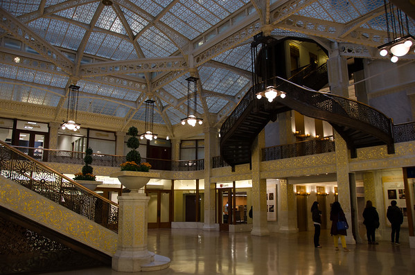 Lobby of the Rookery Building. Chicago, Illinois