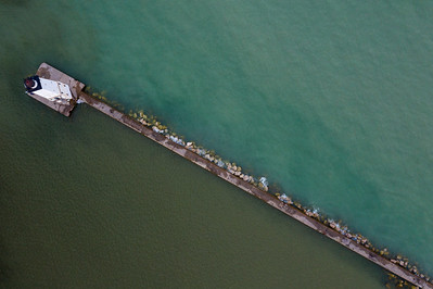 Breakwall Aerial in Frankfort