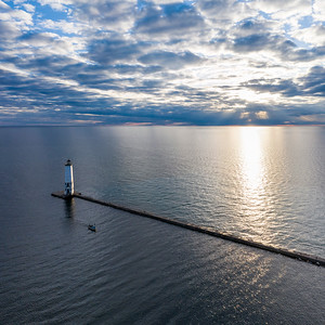 Frankfort Lighthouse Aerial 1x1
