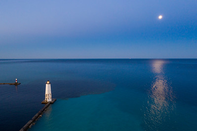 Frankfort Morning Moon Aerial