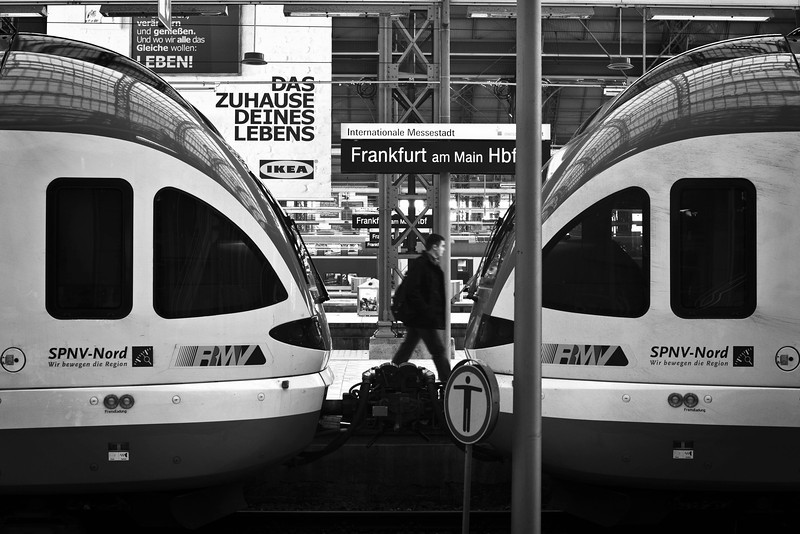 Frankfurt am Main Hbf<br /> <br /> Processed with CS & Topaz BW