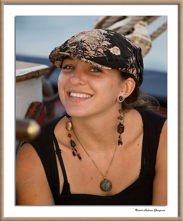 The Captain's First Mate onboard the schooner - she had a radiant smile and personality