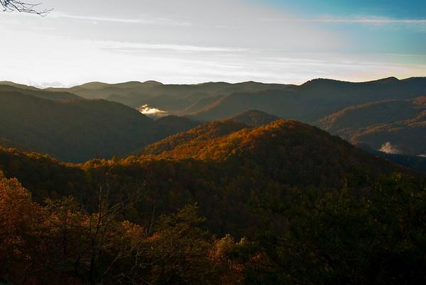 View from Double Top Mountain, near Sylva, North Carolina