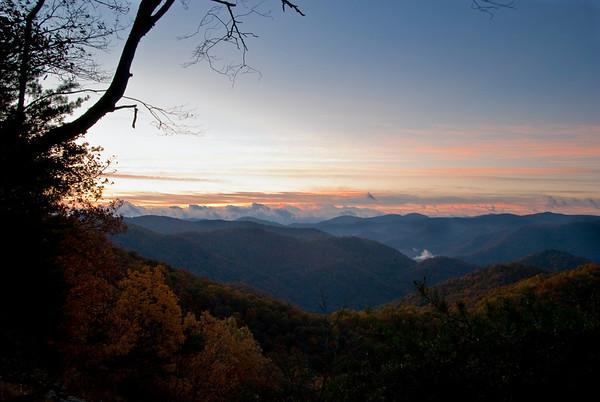 Sunrise Point, Double Top Mountain, near Sylva, North Carolina
