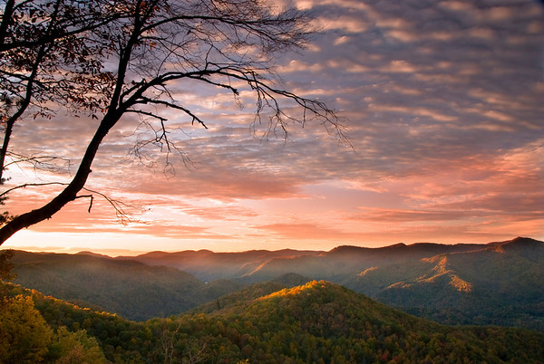 Sunrise Point, Double Top Mountain near Sylva, North Carolina