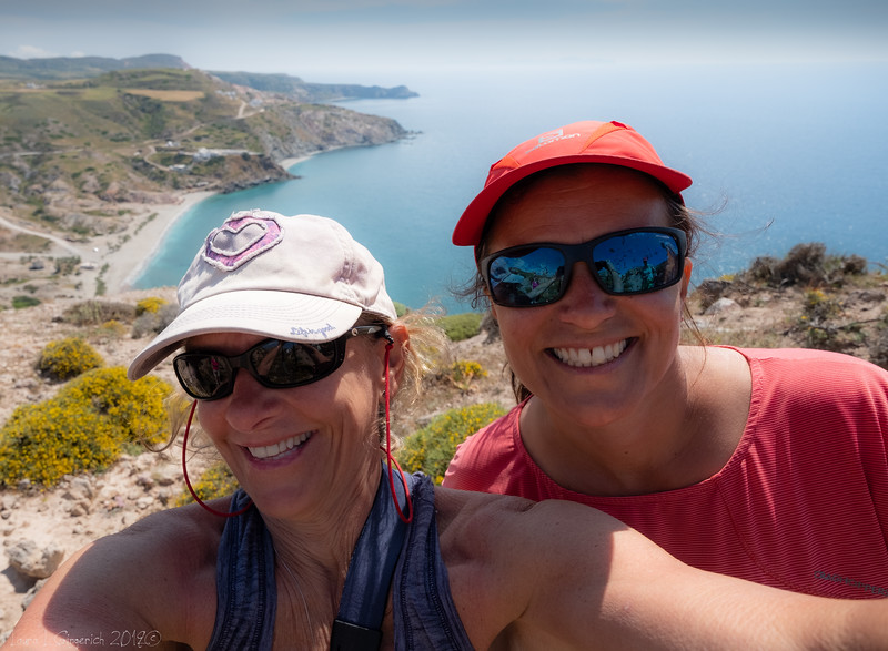 Me and Annie, owner of Greece's Ultimate Walking Company, NoFootprints