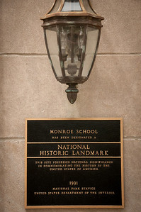 Plaque declaring the school a national historic landmark.