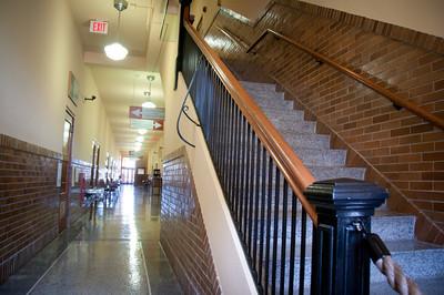 Monroe school hallway.