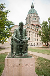 Located in the southeast quadrant of Capitol Square, this statue of Abraham Lincoln was created by Robert Merrell Gage. Gage was born in Topeka in 1892.