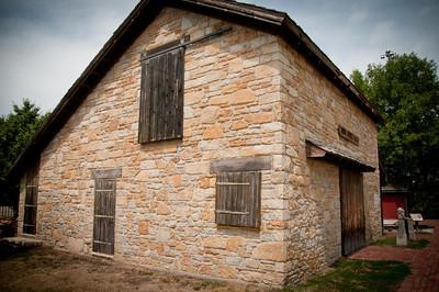 Stone barn, Old Prairie Town