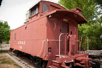 Old Atchison, Topeka and Santa Fe railroad car.