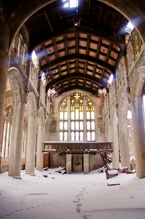 City Methodist Church. Even in abandonment, this building is a magnificent place.