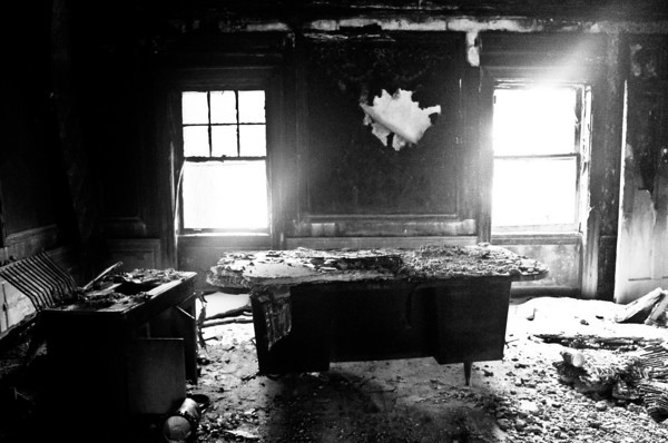 Nurseryland office; fire damage.