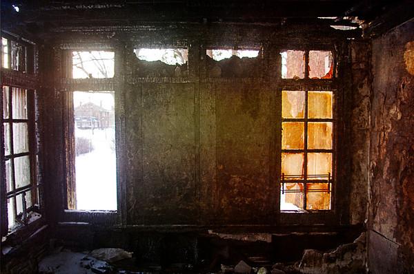 Nurseryland; fire damage.